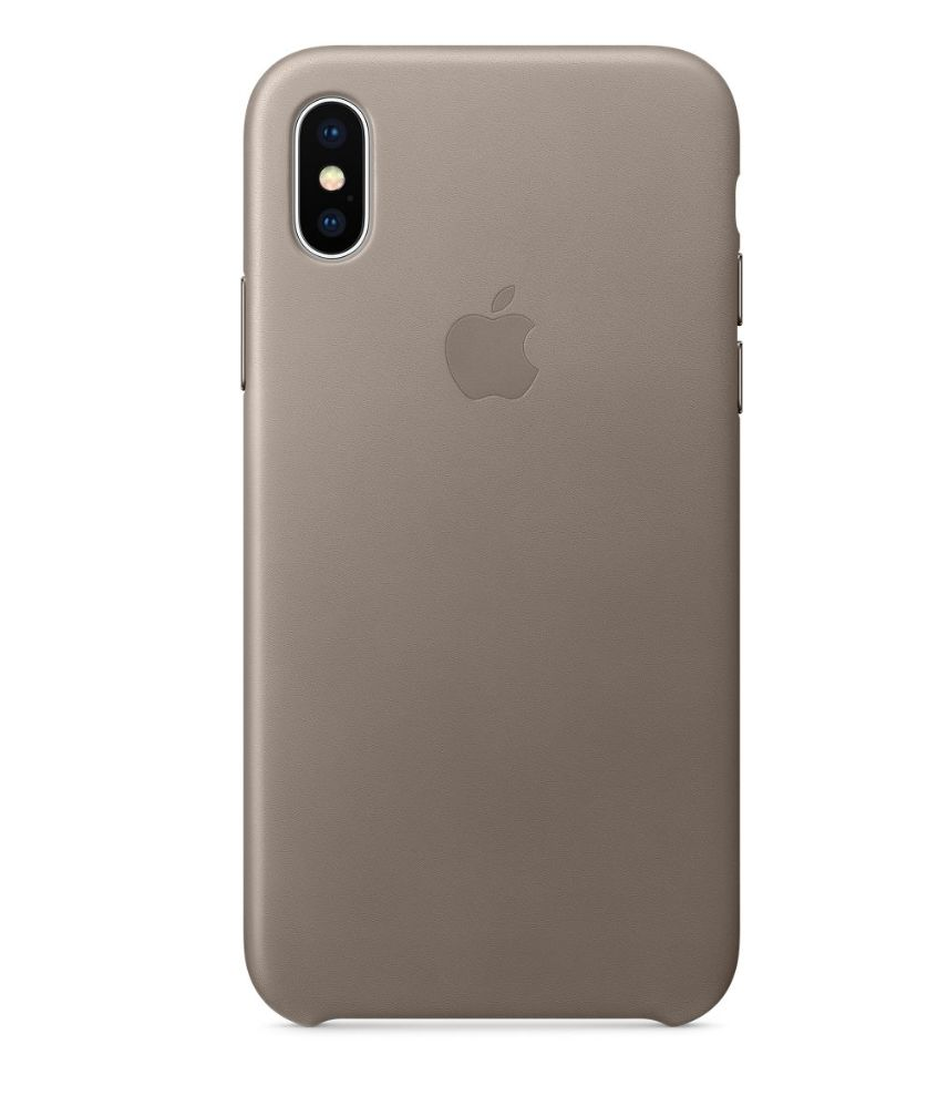 watch c6a90 5b352 iPhone X Leather Case - Taupe