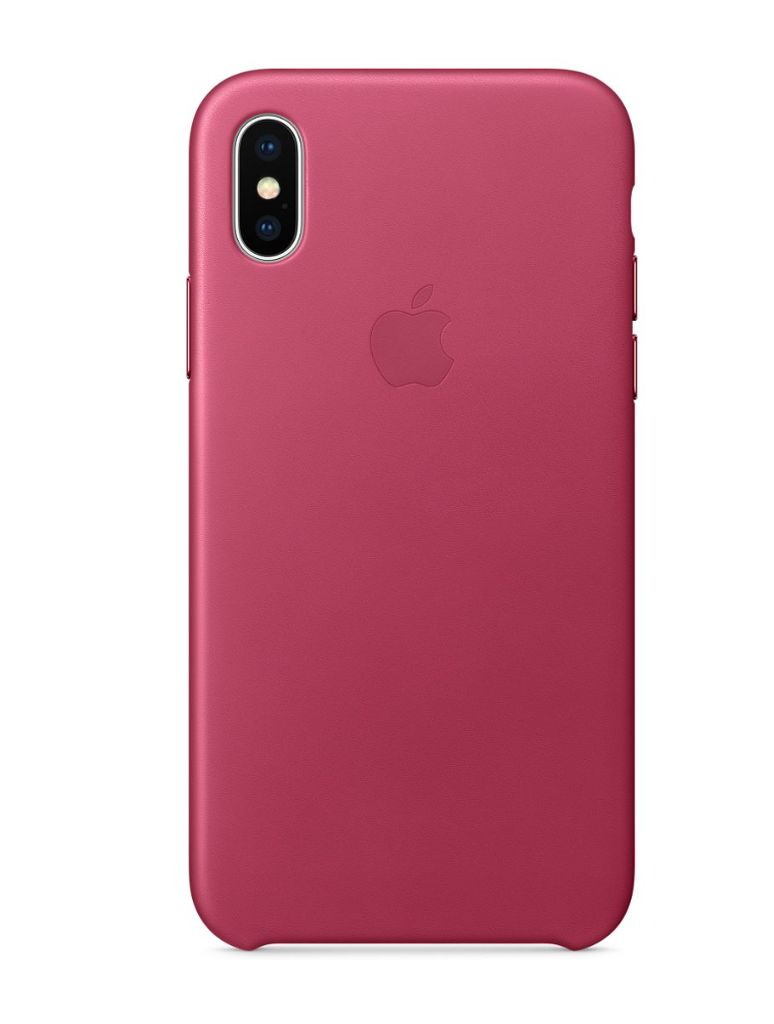 huge selection of bbebc 94321 iPhone X Leather Case - Pink Fuchsia