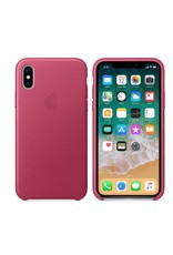 Apple iPhone X Leather Case - Pink Fuchsia