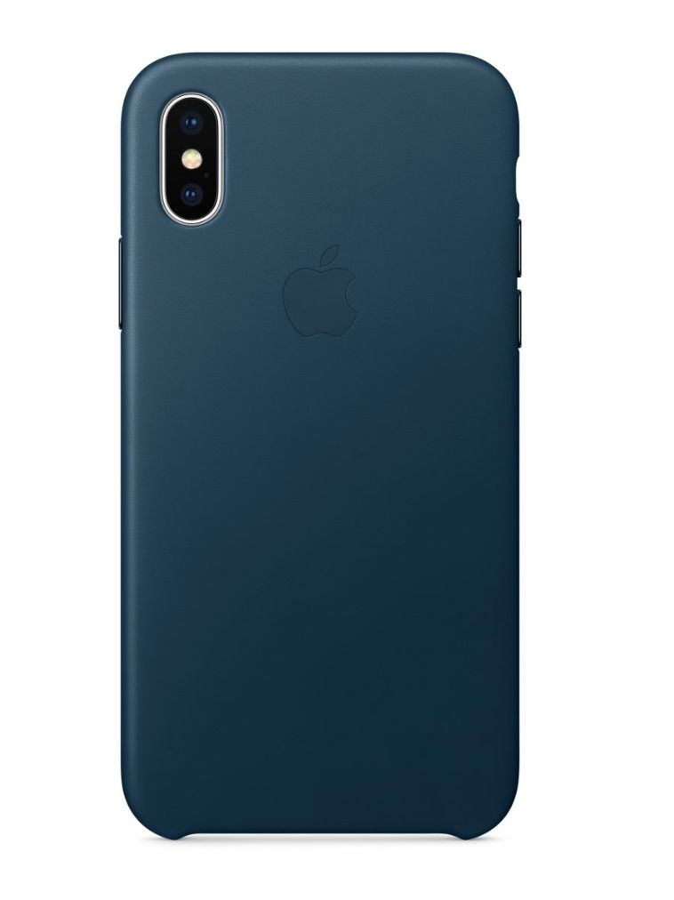Apple iPhone X Leather Case - Cosmos Blue