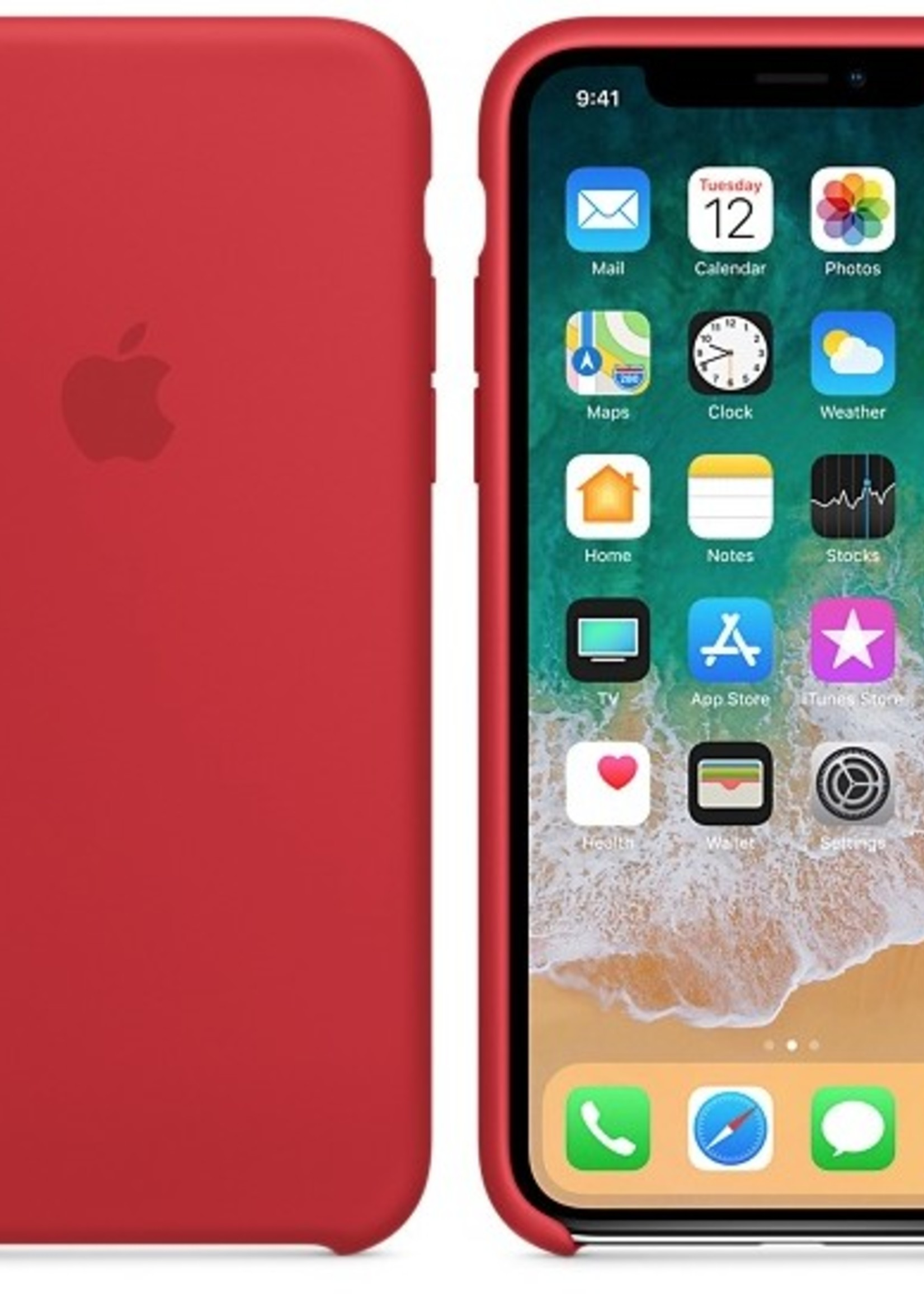 iPhone X Silicone Case - Product Red
