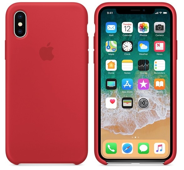 Apple iPhone X Silicone Case - Product Red