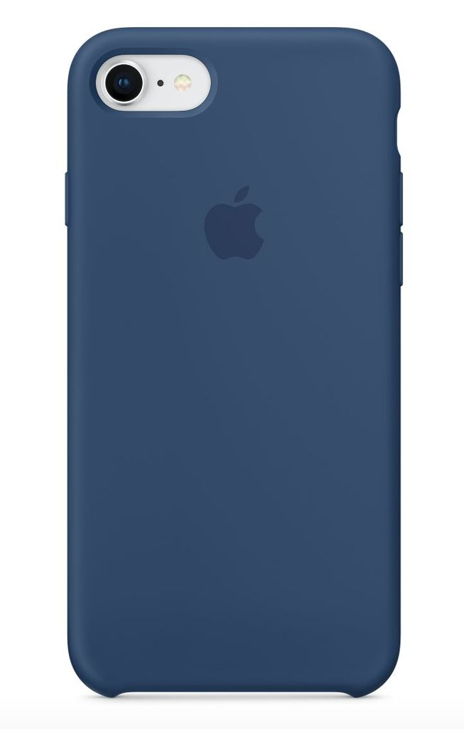 Apple iPhone 8/7 Silicone Case - Blue Colbalt