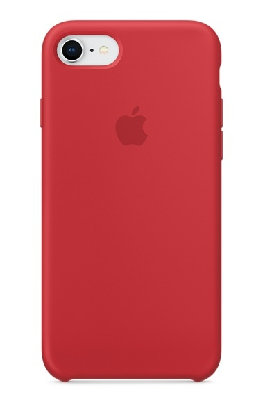 Apple iPhone 8/7 Silicone Case - Product Red