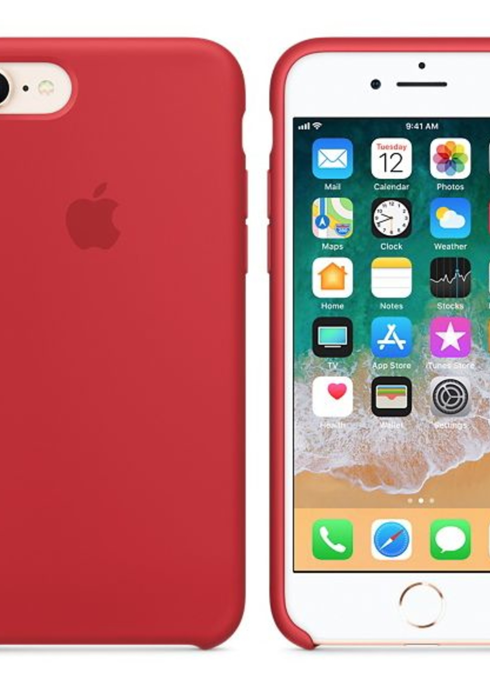 iPhone 8/7 Silicone Case - Product Red