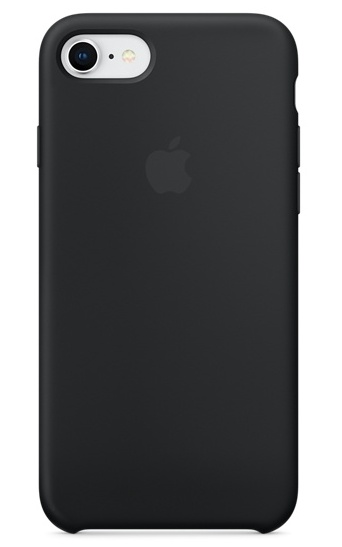 Apple iPhone 8/7 Silicone Case - Black