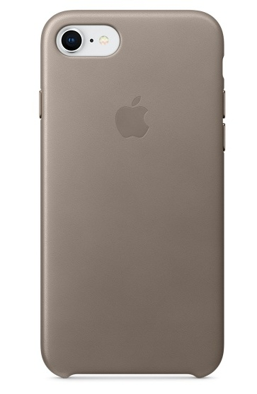 Apple iPhone 8/7 Leather Case - Taupe