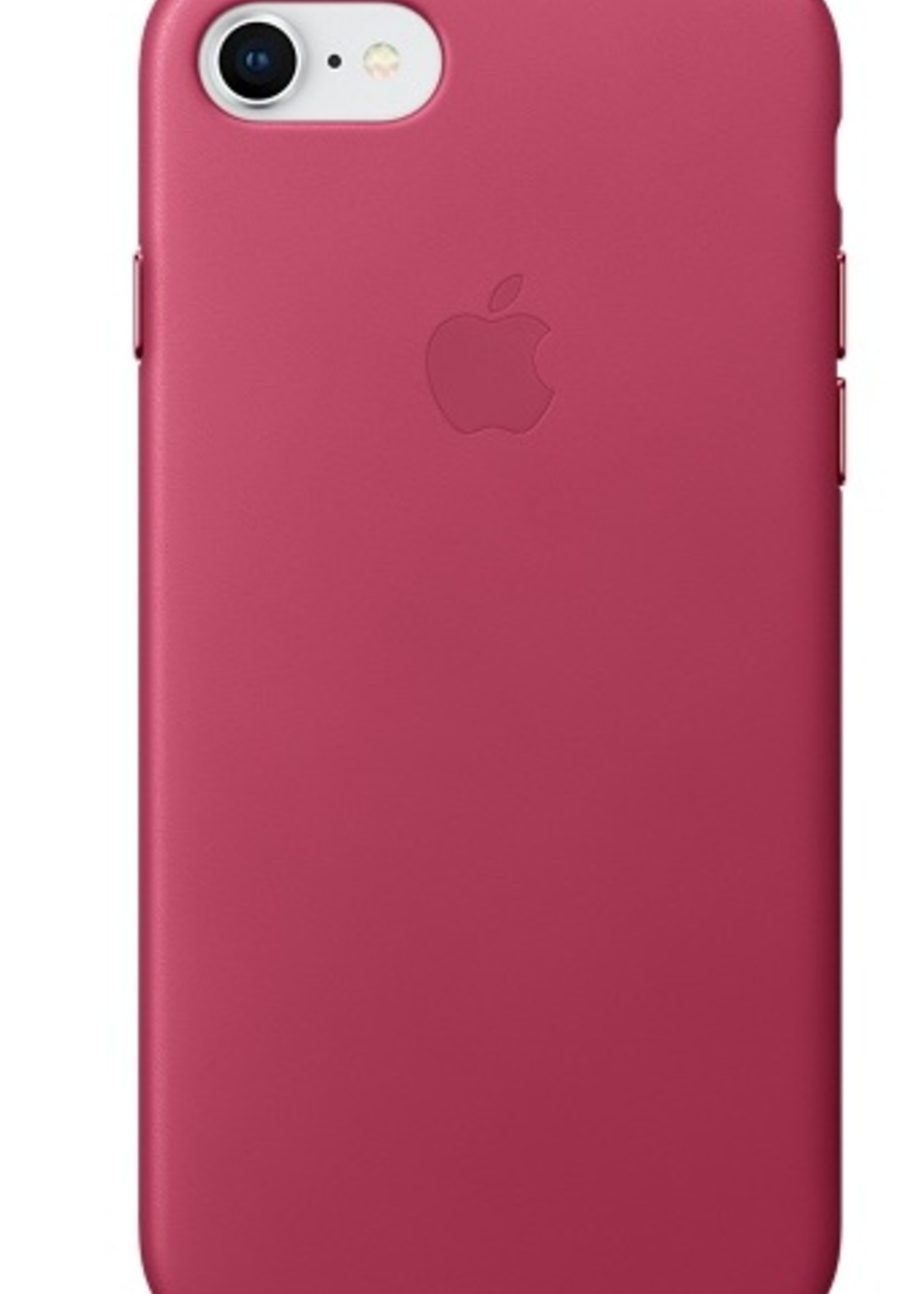 iPhone 8/7 Leather Case - Pink Fushia