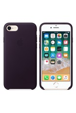 Apple iPhone 8/7 Leather Case - Dark Aubergine