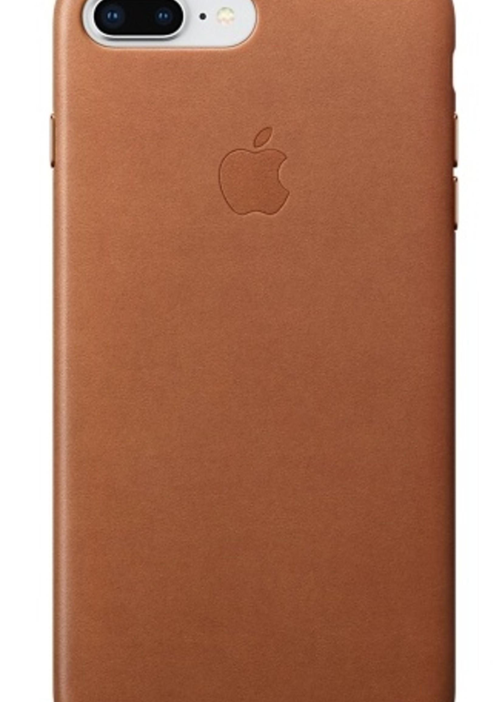 iPhone 8 Plus/7 Plus Leather Case - Saddle Brown