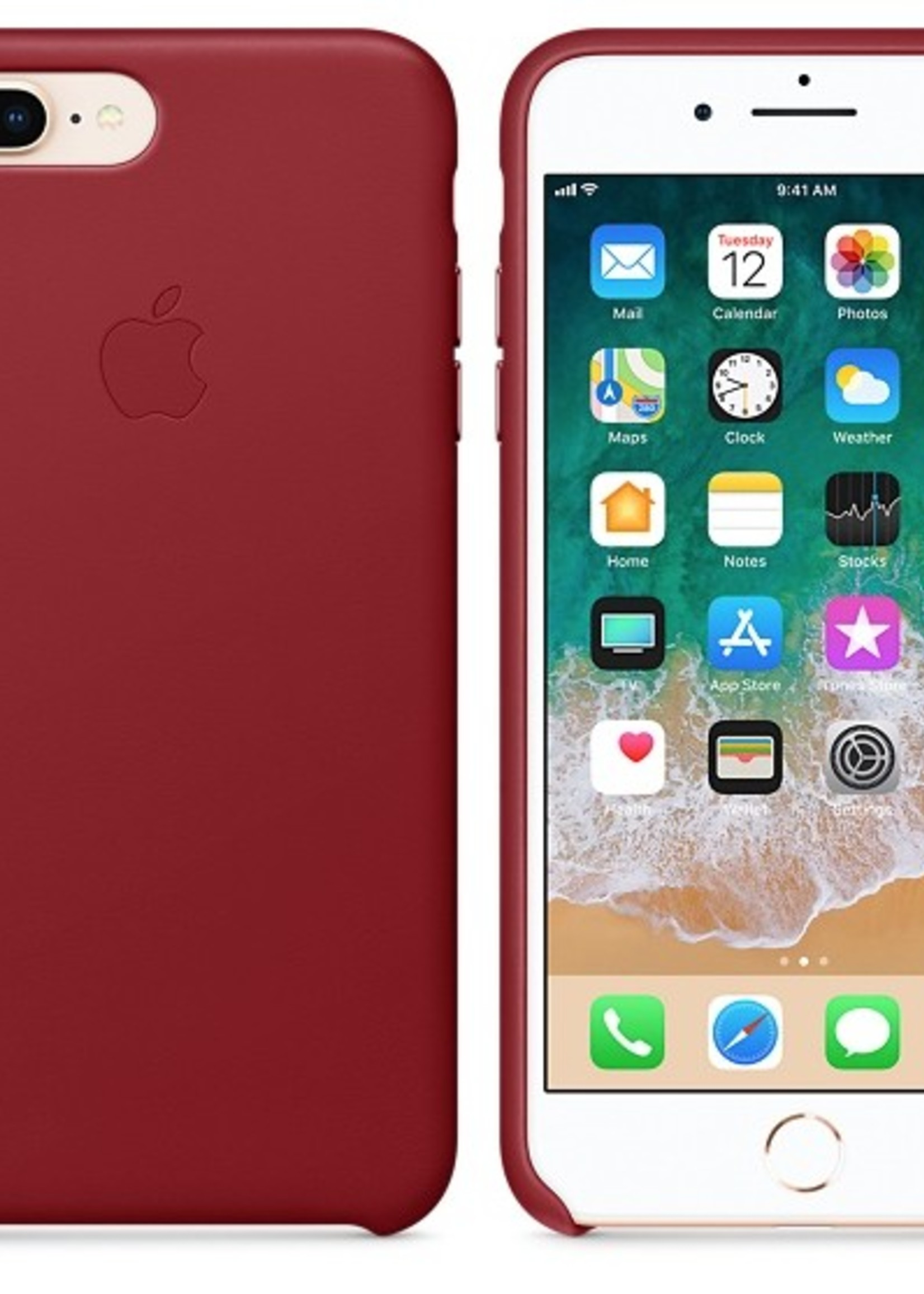 iPhone 8 Plus/7 Plus Leather Case - Product Red