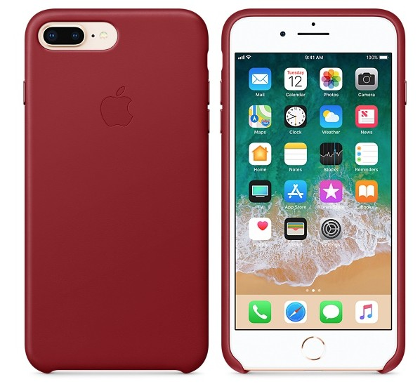 Apple iPhone 8 Plus/7 Plus Leather Case - Product Red