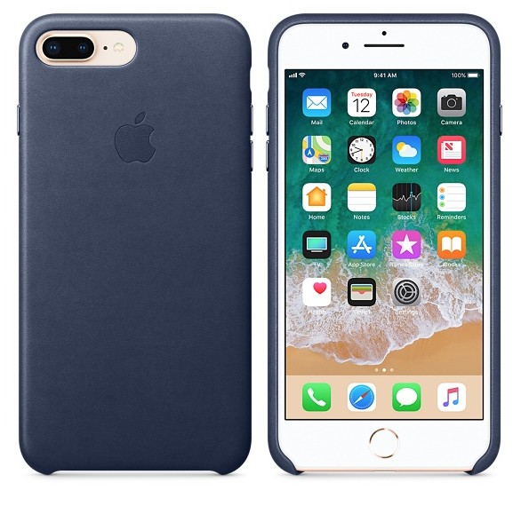 Apple iPhone 8 Plus/7 Plus Leather Case - Midnight Blue