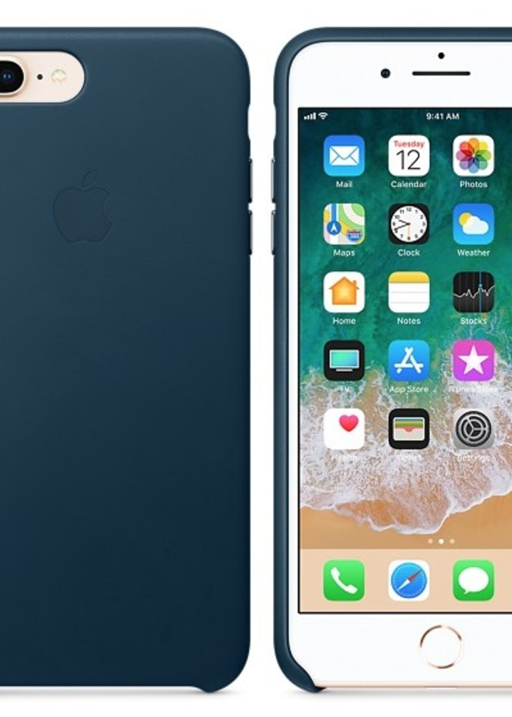 iPhone 8 Plus/7 Plus Leather Case - Cosmos Blue