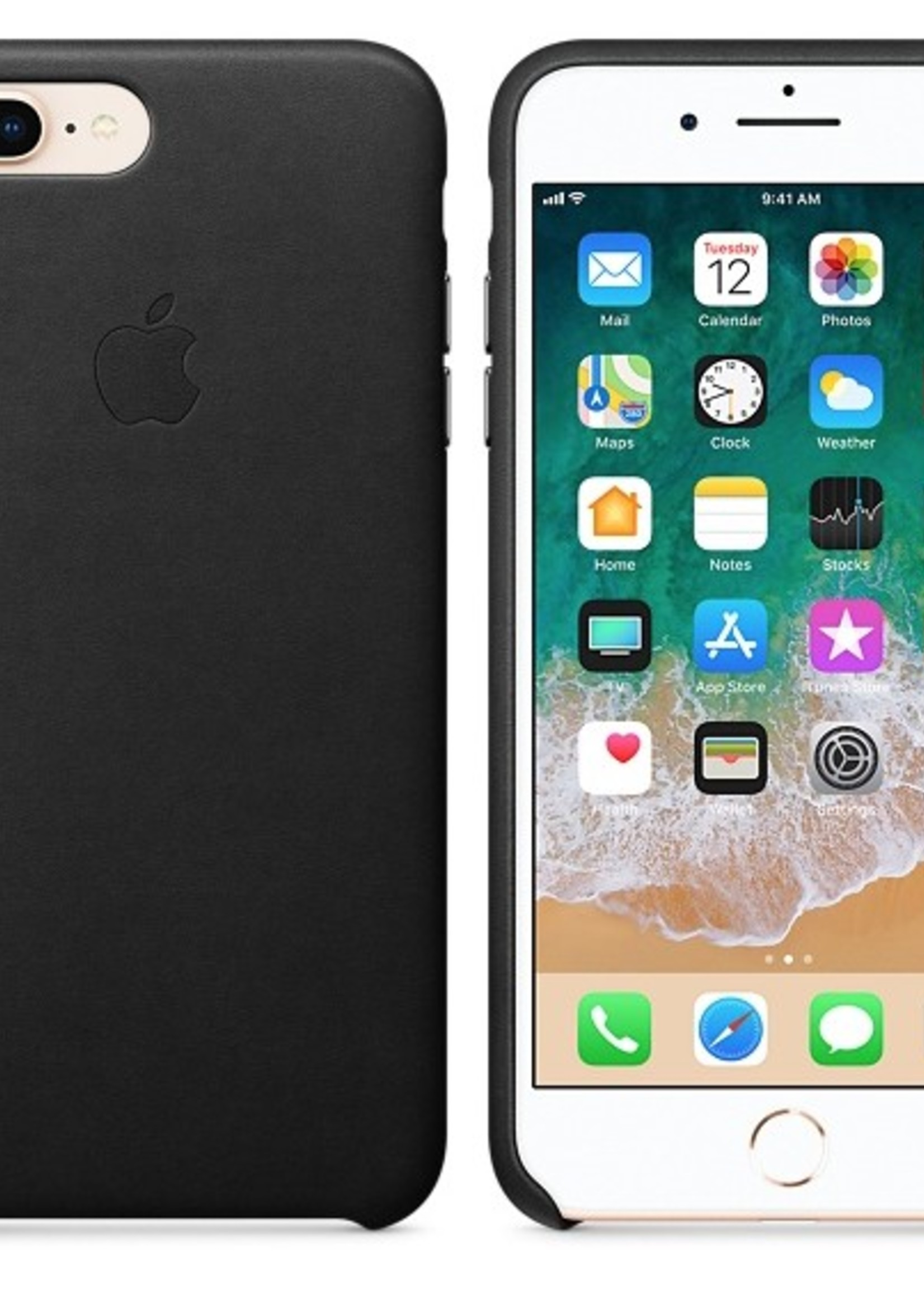 iPhone 8 Plus/7 Plus Leather Case - Black