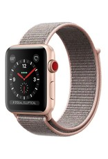 Apple AppleWatch Series 3 GPS+Cellular 38mm Gold Aluminum w/ Pink Sand Sport Loop