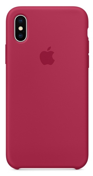 Apple iPhone X Silicone Case - Rose Red