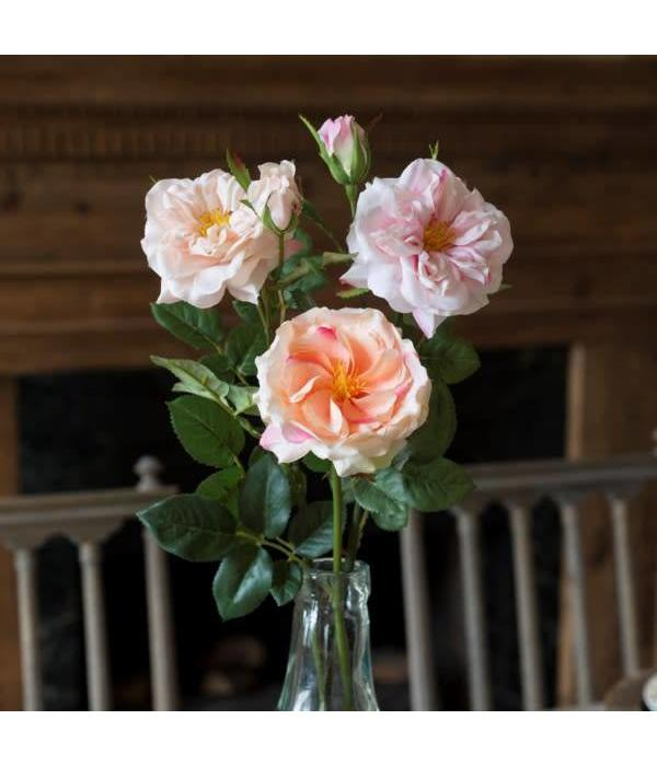 Park Hill Gathered Garden Roses Pink HY1231PK