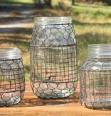 Park Hill Primitive Wire Covered Flower Jar DS3599
