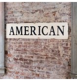 Park Hill Embossed Metal American Sign FH3052