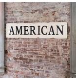 Park Hill Embossed Metal American Sign