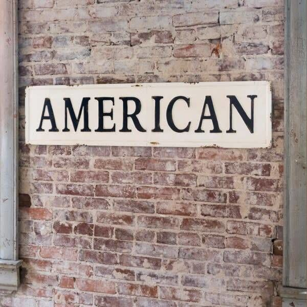 Embossed Metal American Sign FH3052