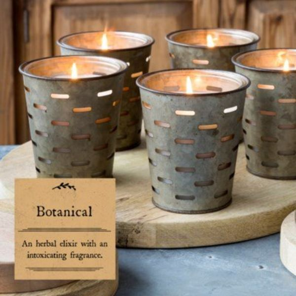 Botanical Olive Bucket Candle PH5054
