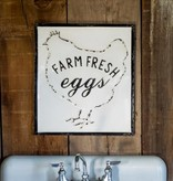 Park Hill Farm Fresh Eggs Embossed Metal Sign FH3160