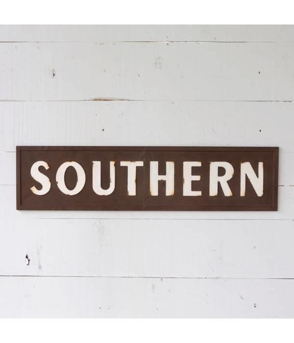Park Hill Embossed Metal Southern Sign