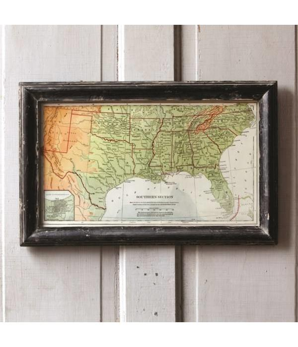 Park Hill Framed Map of the South