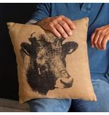 Park Hill Big Bull Printed Feed Sack Pillow