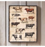 Park Hill Framed Vintage Cow Breeds