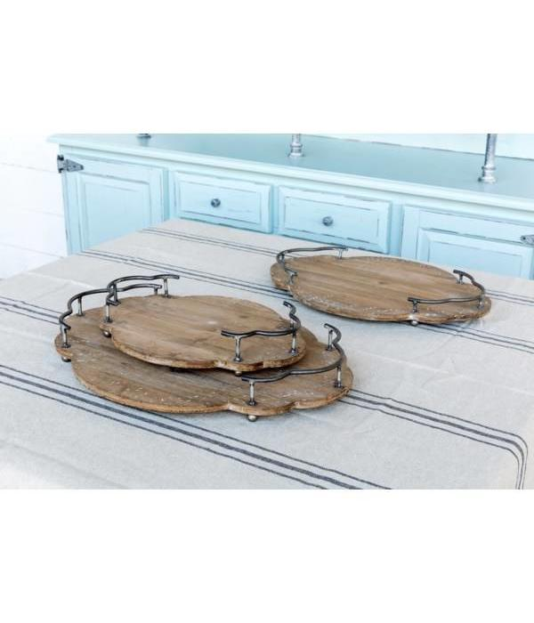 Park Hill Set of 3 Wooden Bistro Trays LL2280