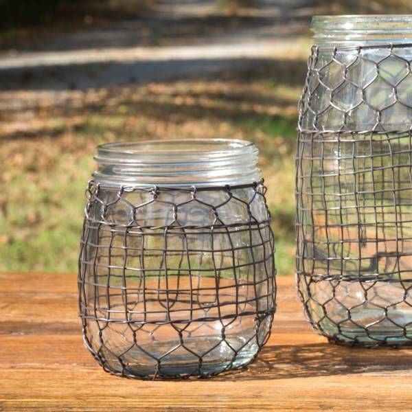 Primitive Wire Covered Barrel Jar DS3600