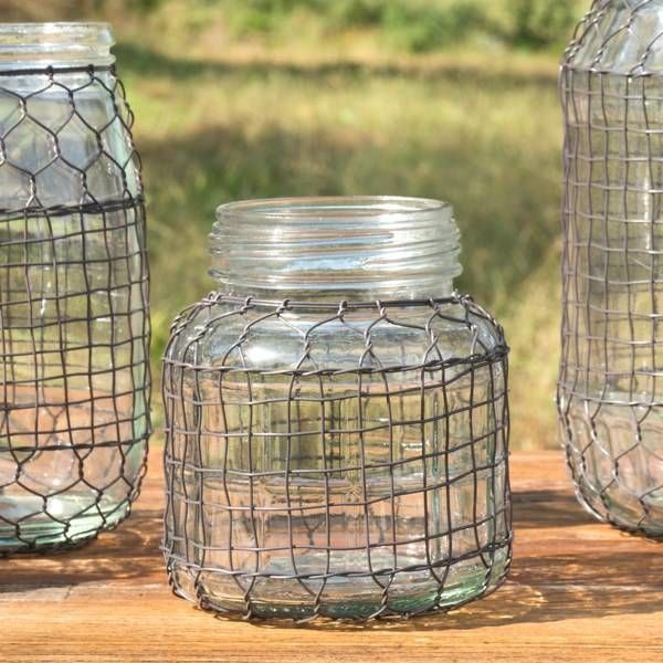 Primitive Wire Covered Lard Jar DS3603