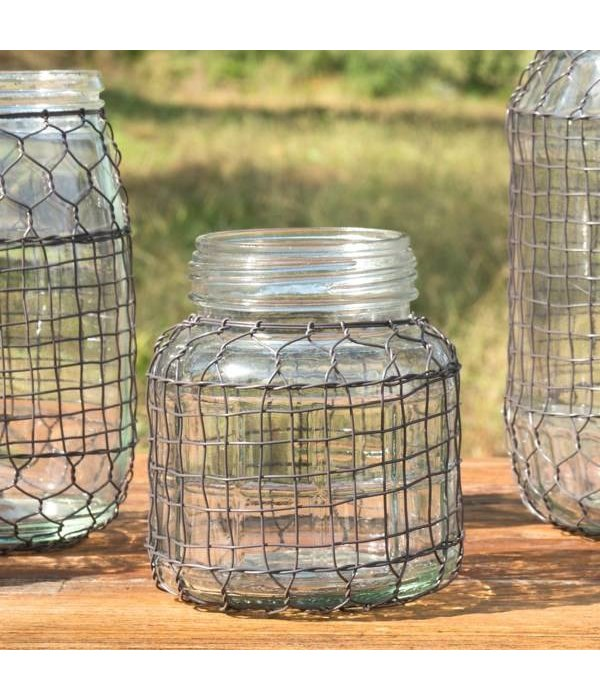 Park Hill Primitive Wire Covered Lard Jar DS3603