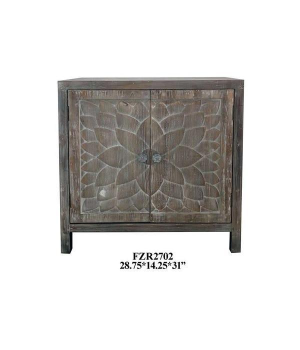 Crestview CABINET W/FLOWER DOOR PANNEL FZR2702