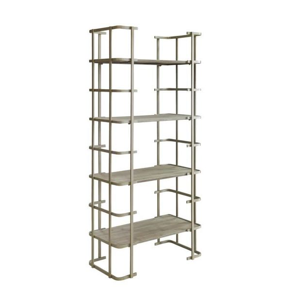 Ava Silver Metal Driftwood Etagere CVFZR1699