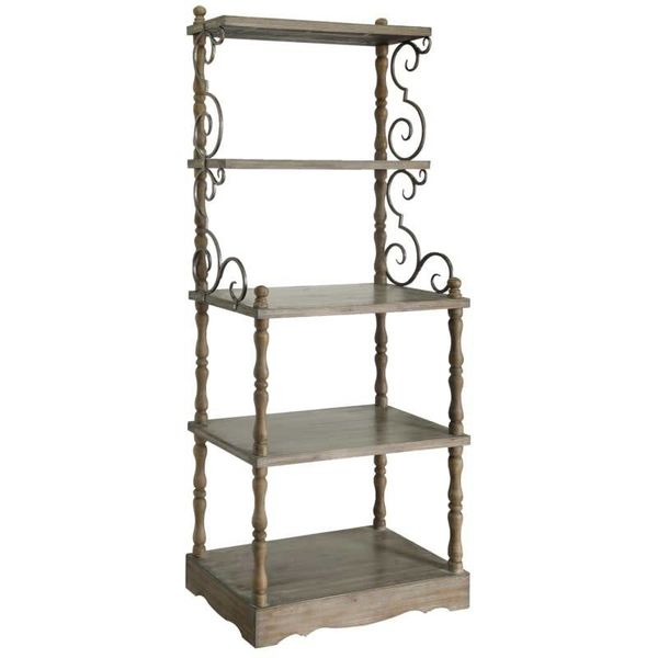 Willow Creek Scroll Metal / Wood Etagere CVFZR1701