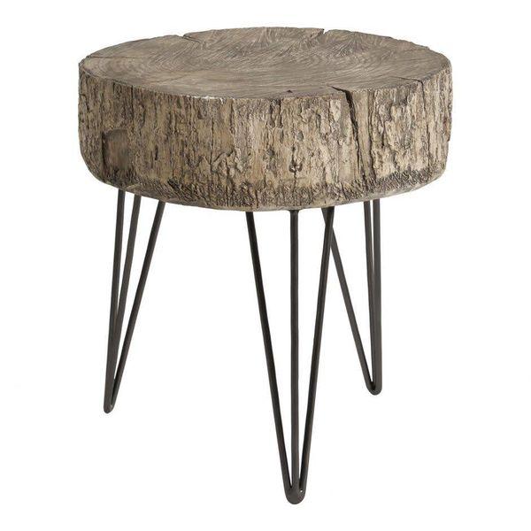 Cambria Accent Table Antique Silver MJ-1043-52