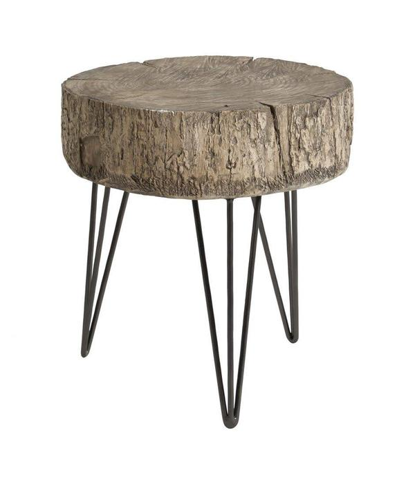 Moe's Home Collection Cambria Accent Table Antique Silver MJ-1043-52