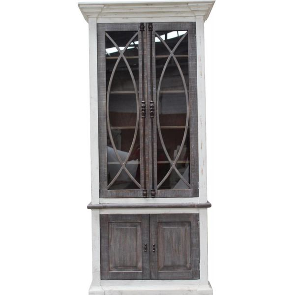 Farmhouse Curved Tall Vitrine Nash Finish