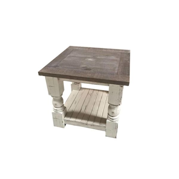 Farmhouse Martha Side Table Nero White