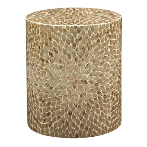 Jofran Global Archive Round Capiz Accent Table 1730-28SND