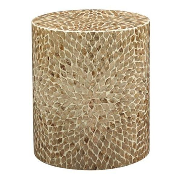 Global Archive Round Capiz Accent Table 1730-28SND