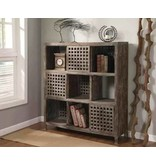 Crestview Solid Wood Wall Unit in Rustic Wood Finish CVFZR299