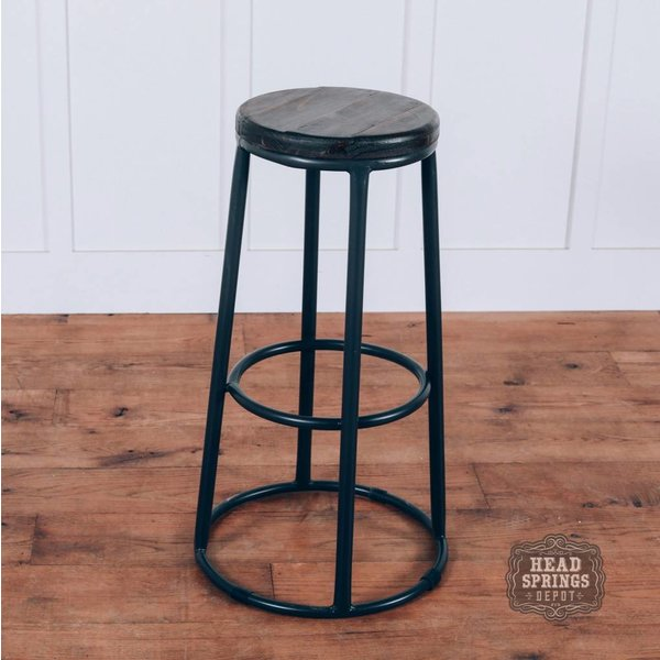 "Farmhouse Double Ring 30"" Barstool Rodeo Seat"