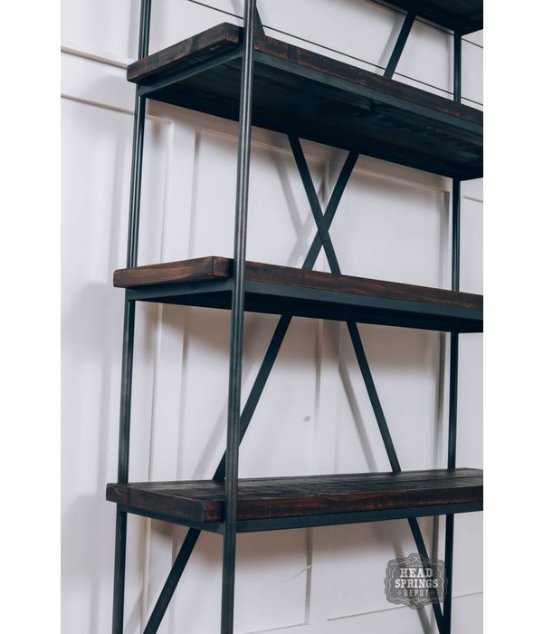 "Farmhouse by Head Springs Depot Farmhouse 32"" Iron Bookcase Rodeo JON90-DB"