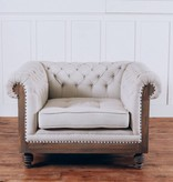 Fox & Roe Anna Deconstructed Chesterfield Arm Chair with Fabric (Milano 104)