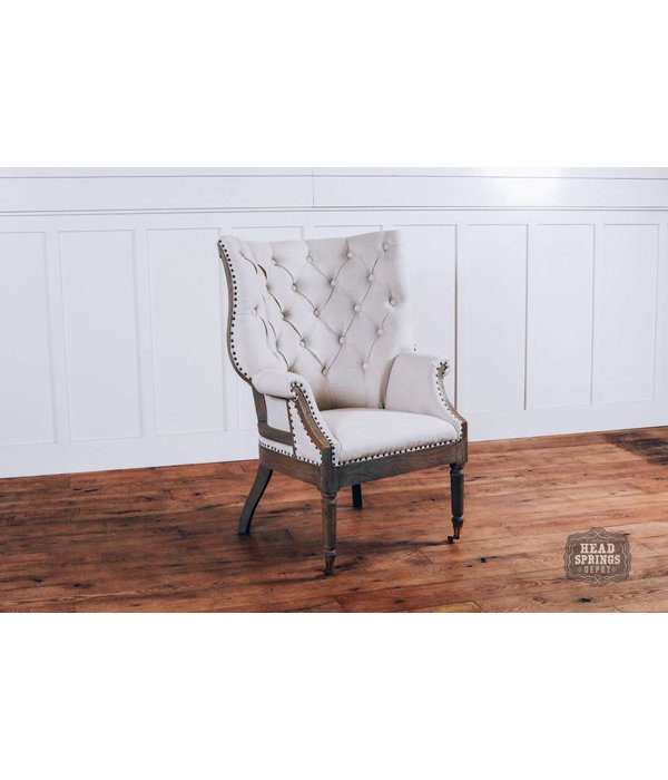 Fox & Roe Olivia Deconstructed Fabric Chair with Wheels (Milano 104)